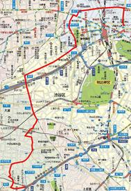 Map_fromsancha_toshinjuku