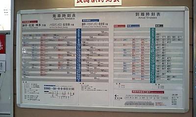 Nagasaki_stn_timetable