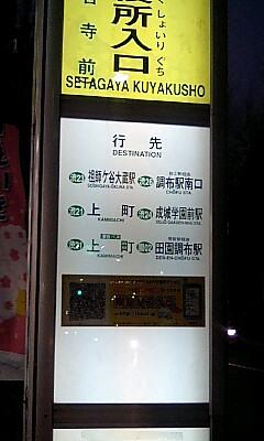 Setagayakuyakushoiriguchi_busstop